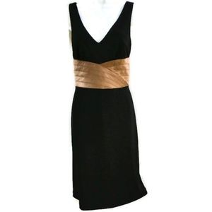 Kay Unger New York Dress Classic Black Silk Satin
